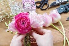 Florist at work Stock Photos