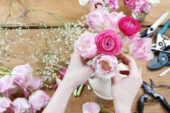 Florist at work Royalty Free Stock Photo