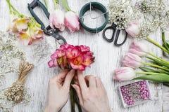 Florist at work Royalty Free Stock Photos
