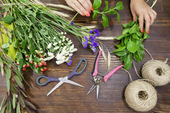 Florist at work Royalty Free Stock Photography