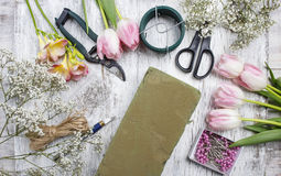 Florist workplace Royalty Free Stock Photo