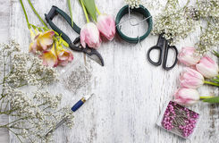 Florist workplace Royalty Free Stock Photography