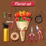 Florista Accessories Set Fotografía de archivo libre de regalías