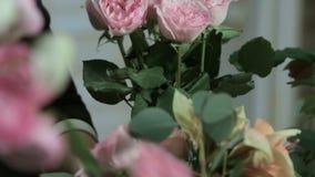 Florista Arranging Modern Bouquet, florista video estoque