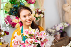 Florista bonito Fotografia de Stock Royalty Free