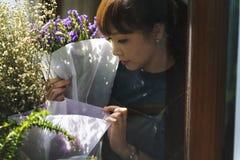 Florista Botany Bouquet Blooming da loja do florista fotografia de stock
