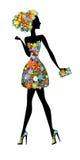 Florista - mujer hermosa con perfume libre illustration