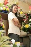 Florista no trabalho Imagens de Stock Royalty Free