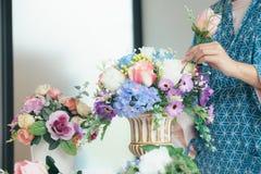 Florista novo Botany Bouquet Bl de Flower Shop Store do proprietário empresarial fotografia de stock
