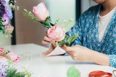 Florista novo Botany Bouquet Bl de Flower Shop Store do proprietário empresarial fotografia de stock royalty free