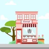Florista Store Front Building Background Illustration ilustración del vector