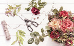 Floristenarbeitsplatz Stockbilder
