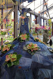 Floristic dekor och attrapp för Calla lilly i blommaväxthus i Ke Arkivbilder