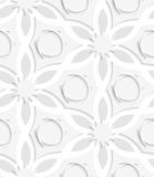 Floristic gray layering seamless Stock Photo