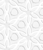 Floristic gray and white seamless Royalty Free Stock Photography
