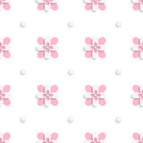 Floristic simple pink tile ornament Stock Image
