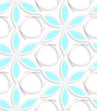 Floristic white and blue seamless Royalty Free Stock Photo