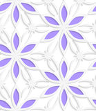 Floristic white seamless Stock Photo