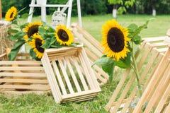Floristics do casamento em um estilo rústico Foto de Stock Royalty Free