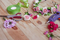 Floristry handmade Stock Image