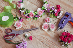 Floristry handmade Royalty Free Stock Photo