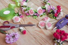 Floristry handmade Royalty Free Stock Photography