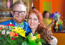 Florists in their Shop Royalty Free Stock Images