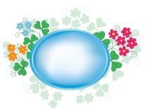 floror inramniner den ovala vektorn royaltyfri illustrationer