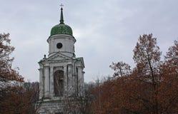 Florovsky Monastery in Kyiv, Ukraine. Bell tower of Florovsky Monastery in Kyiv, Ukraine stock images