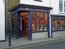 Flory and black novelty homewares store. Photo of flory and black lighting and novelty store located in the kent harbour town of whitstable england october 2017 Stock Image
