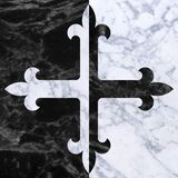 Flory cross Stock Images