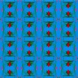Flory grafiki wzoru kwiatu bzu zieleni abstrakcjonistyczny czerwony liść Zdjęcie Royalty Free