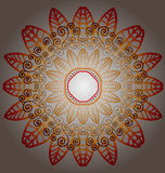 Flory ulistnienia round ornament ilustracja wektor