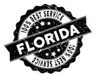 Floryda Best usługa znaczek z Grunge stylem ilustracja wektor