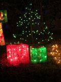 FLORYDA HOME-AID CHRITMAS drzewo Z prezentami fotografia stock