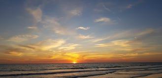 Floryda sjesty klucza zmierzchu plaża obraz royalty free