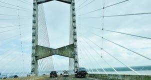 Floryda stanu Jacksonville usa paniuś punktu most zdjęcie royalty free