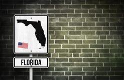 Floryda znak uliczny zdjęcie royalty free