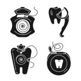Floss icon set, simple style vector illustration