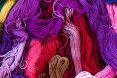 Floss para o bordado e o bordado Imagens de Stock Royalty Free