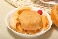 Floss pie Chinese snacks Dried meat floss Stock Photo