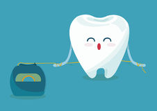 Floss tooth. Of dental Royalty Free Stock Photo