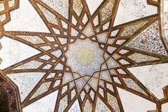 Flossen-Garten Pavillions-Oasen-Decken-Muster, Kashan, der Iran stockbilder