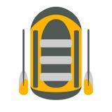 Flossikone Tourismusausrüstung Flussboots-Reisenetzelemente Vect Stockfotografie