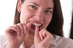 Flossing foto de stock royalty free