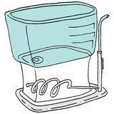 Flossing Gerät des Wassers Stockfoto