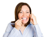 Flossing is good Royalty Free Stock Photo