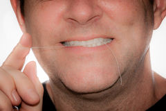 Flossing Royalty Free Stock Image