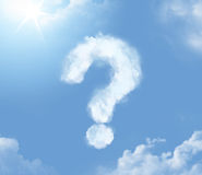 Flossy cloudlet in the shape of question mark Stock Photo