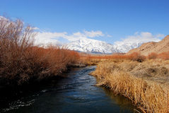 Flot à froid de montagne Images libres de droits